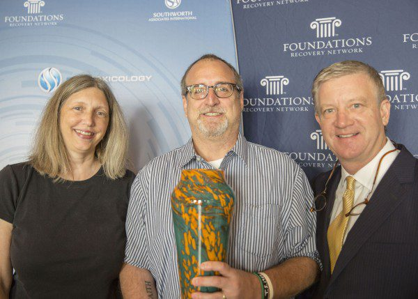L-R Kathy Dauphinais, Rob Waggener, CEO Foundations Recovery Network and Dean Dauphinais