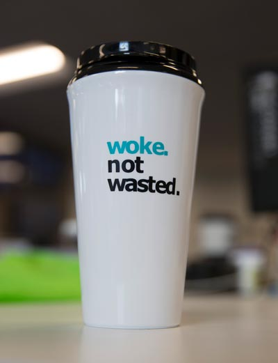 woke not wasted tumbler