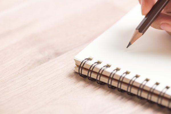 Journaling in notebook